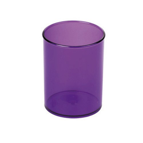 POT A CRAYON D78MM TRANSPARENT LILAS