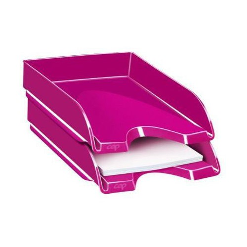 CORBEILLE COURRIER CEPPRO GLOSS ROSE PEP