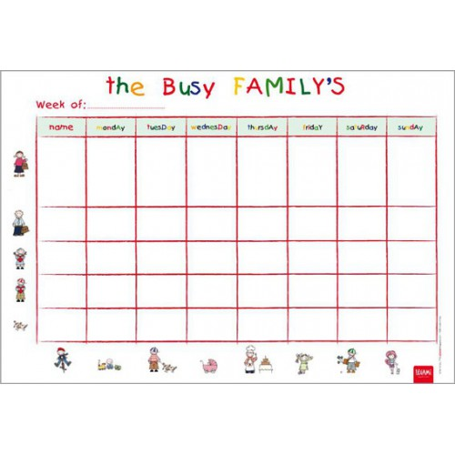 SOUS MAIN PLANNING 34X24 BUSY FAMILY'S
