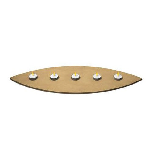 CENTRE DE TABLE OVAL BOIS 54X19CM