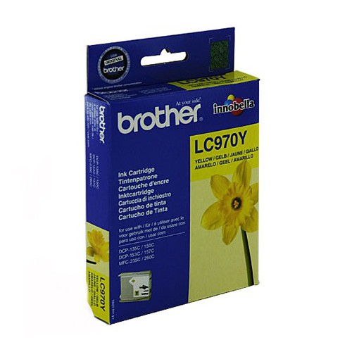 CARTOUCHE JET ENCRE BROTHER LC970 JAUNE