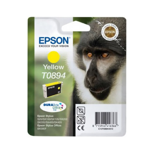 CARTOUCHE JET ENCRE EPSON T0894 JAUNE