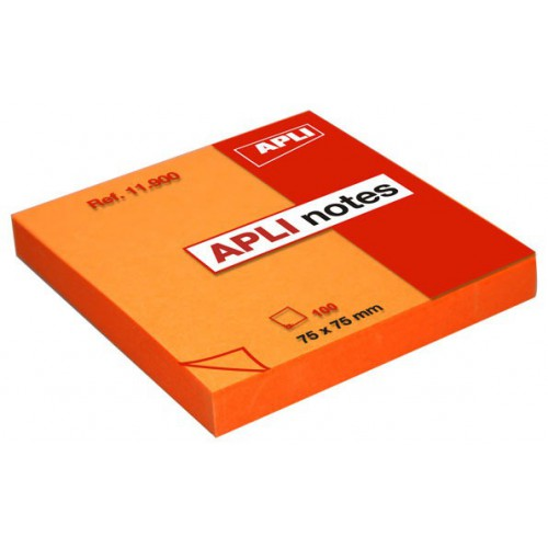 BLOC 100 POST IT NOTE 75X75MM ORANGE VIF