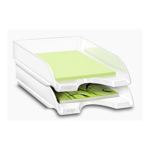 CORBEILLE COURRIER CEPPRO GLOSSY BLANC A