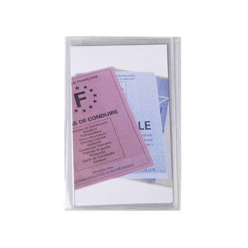 ETUI PVC MULTI CARTES 88X138MM 15/100E