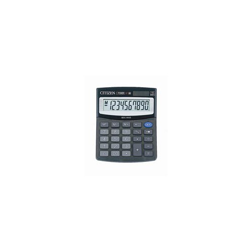 CALCULATRICE BUREAU 10CH PIL+SOL CITIZEN