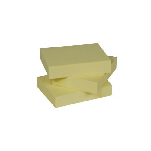 LOT 12 POST IT NOTES 76X76MM JAUNE RECYC