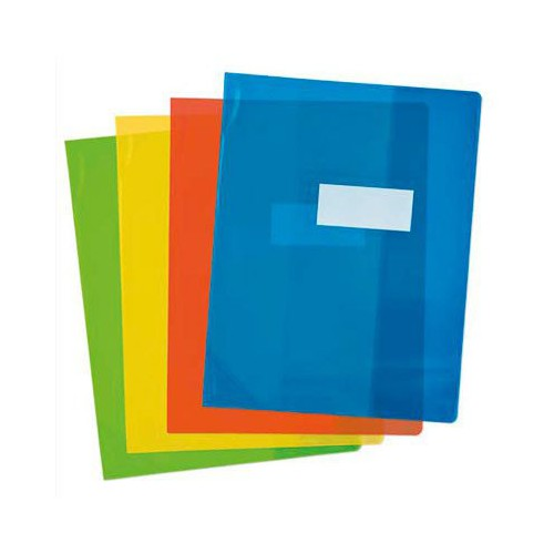 PROTEGE CAHIER A4 STRONG CRISTAL VERT