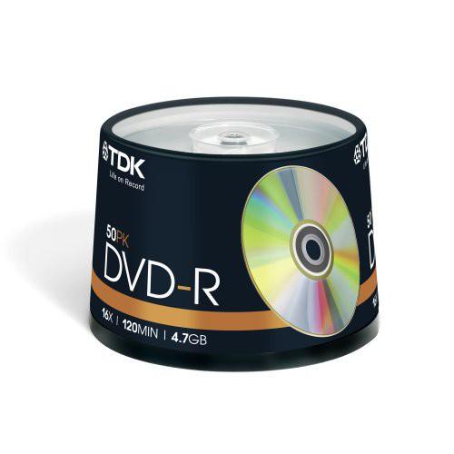 PACK 10 DVD+R 120MN 4.7GO 16X TDK