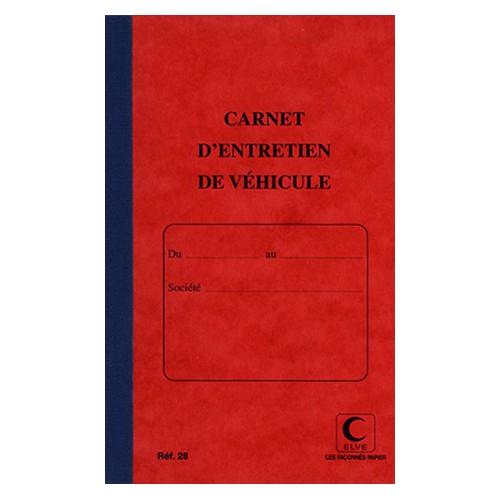 CARNET D ENTRETIEN VEHICULE 21X13CM 32F