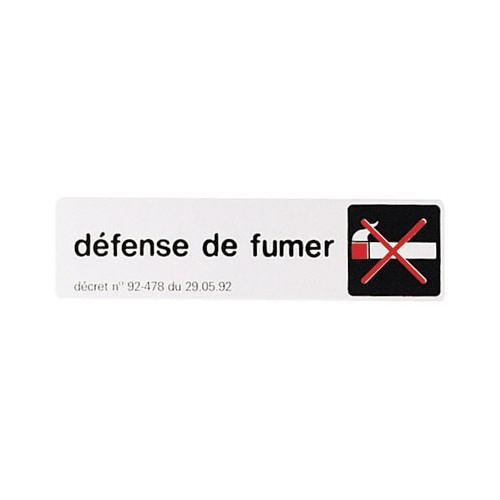 PLAQUE SIGNALISATION DEFENSE DE FUMER
