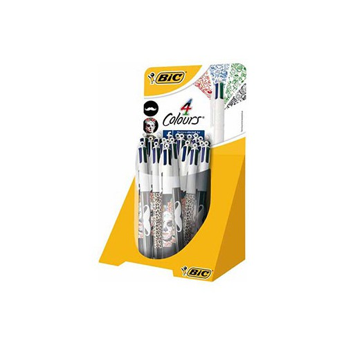 STYLO BILLE 4 COULEURS DECOR 1MM