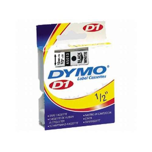 RUBAN DYMO 12MM D1 NOIR-BLANC