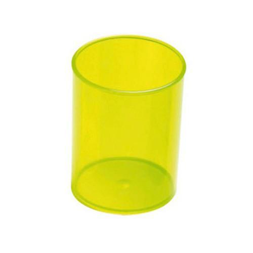 POT A CRAYON D78MM TRANSPARENT VERT