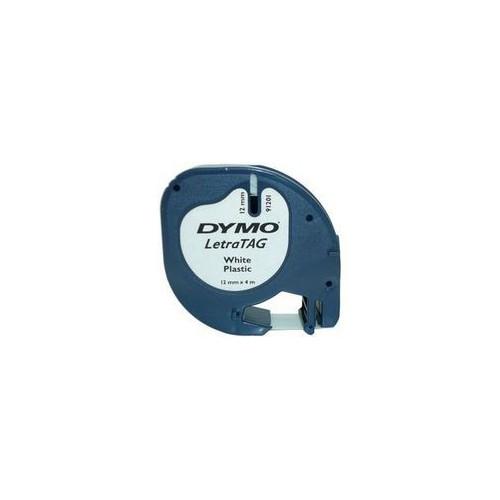 RUBAN DYMO 12MM LETRATAG PVC NOIR-BLANC