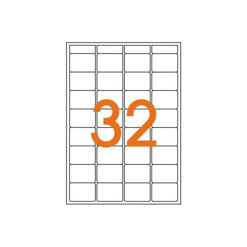 ETIQUETTE A5 X 512 24X33.5MM BLANC
