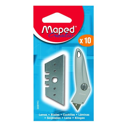 ETUI 10 LAMES CUTTER COUDE MAPED
