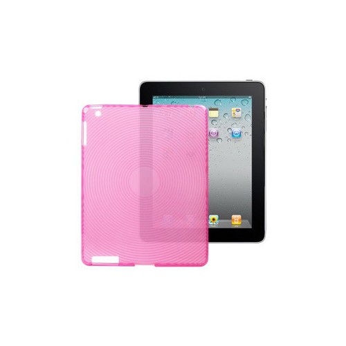 COQUE ONDES IPAD 2 MINIGEL ROSE