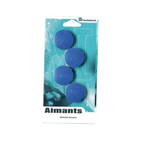BLIS 4 AIMANTS RONDS 32MM BLEU
