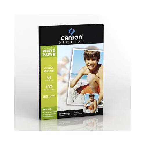 PAPIER A4 INKJET PHOTO BRILLANT 180G