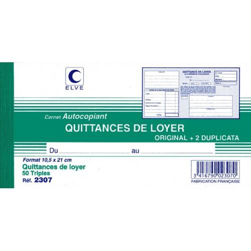 Manifold Quittances De Loyer 10X21 Tripl