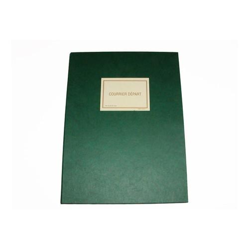 Registre 32X25 Courrier Depart 200P Vert