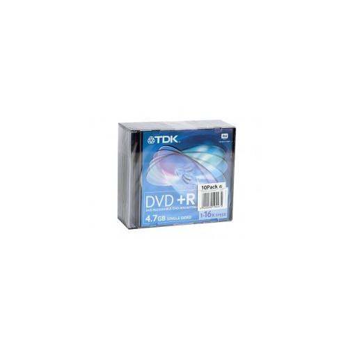 Pack 10 Dvd-R 120Mn 4.7Go 16X Tdk