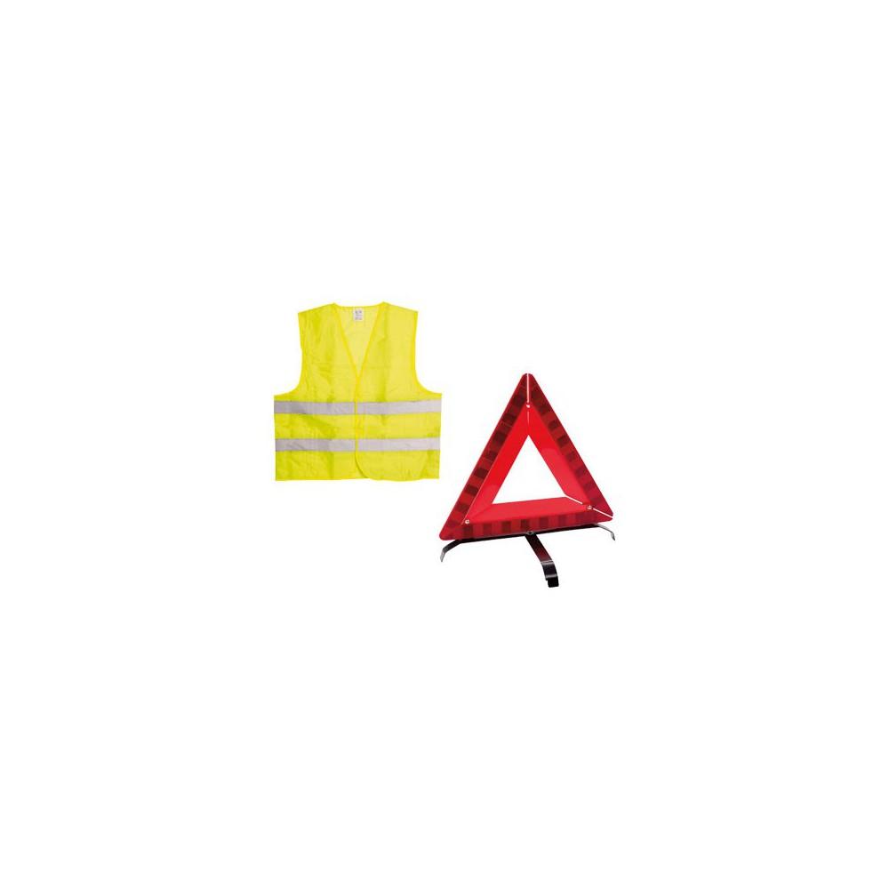 kit securite gilet triangle magasin papeterie noum a. Black Bedroom Furniture Sets. Home Design Ideas
