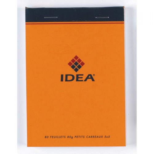 BLOC NOTES 8X12 160P ORANGE Q5X5 80G