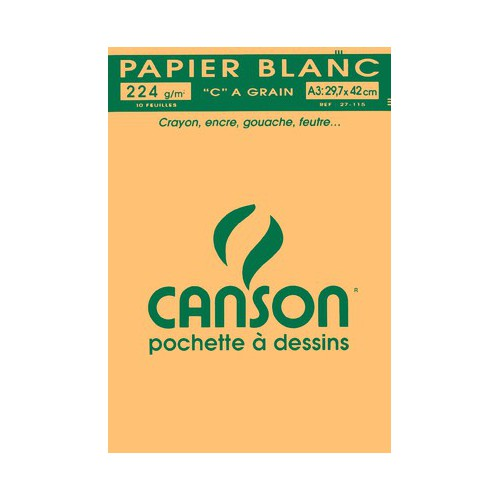 POCH 10F DESSIN A3 CANSON 224G