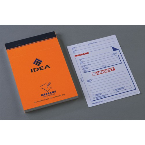 BLOC NOTES 11X17 160P ORANGE MESSAGE 80G