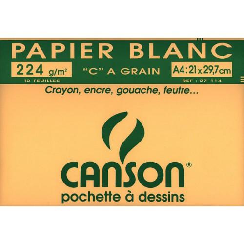 POCH 12F DESSIN A4 CANSON 224G