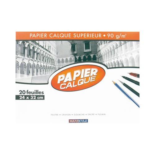 POCH 20F PAPIER CALQUE 24X32 MAJUSCULE