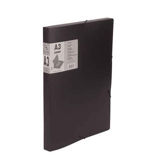 BOITE CLASSEMENT A3 DOS30MM PVC NOIR