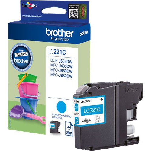 CARTOUCHE JET ENCRE BROTHER LC221 CYAN