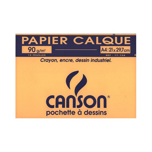 POCH 12F A4 CALQUE CANSON 90G