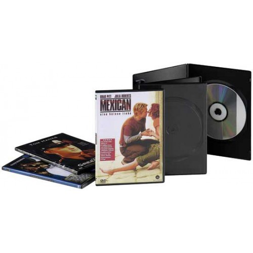 LOT 10 BOITIERS 1 DVD SLIM NOIR