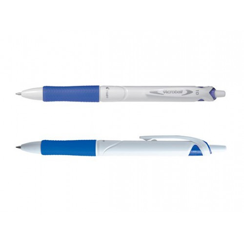 STYLO BILLE ACROBALL PURE WHITE 1MM BLEU