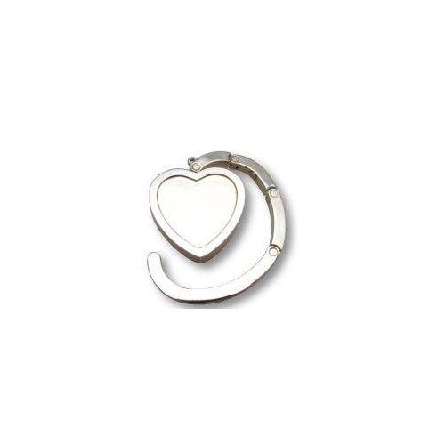 ACCROCHE SAC COEUR 45X45MM METAL A DECOR