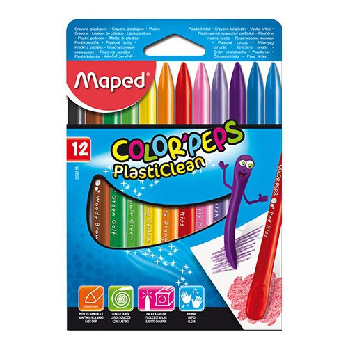CRAYON COULEUR PLASTI CLEAN COLOR PEPS