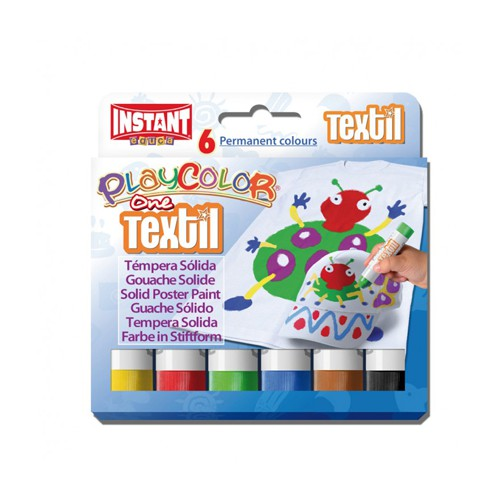 PACK 6 STICKS 10G PLAYCOLOR TEXTIL ONE