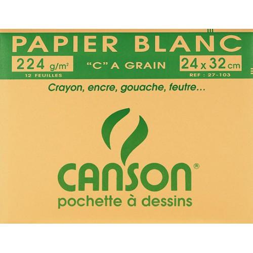 POCH 12F DESSIN 24X32 CANSON 224G