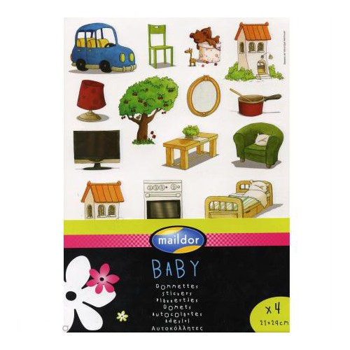SAC 120 STICKERS BABY MAISON