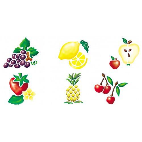 LOT 6 POCHOIRS LAVABLES LES FRUITS