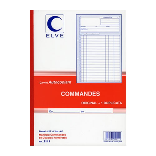 MANIFOLD COMMANDES A4 DUPLI NCR