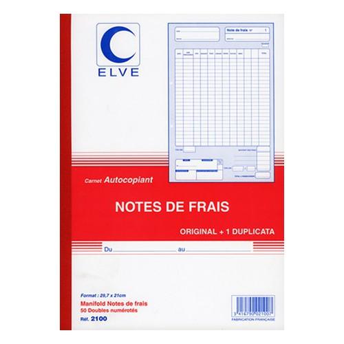 MANIFOLD NOTES DE FRAIS A4 DUPLI NCR