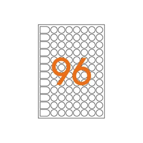 ETIQUETTE A5 X 4704 DIAM8MM BLANC