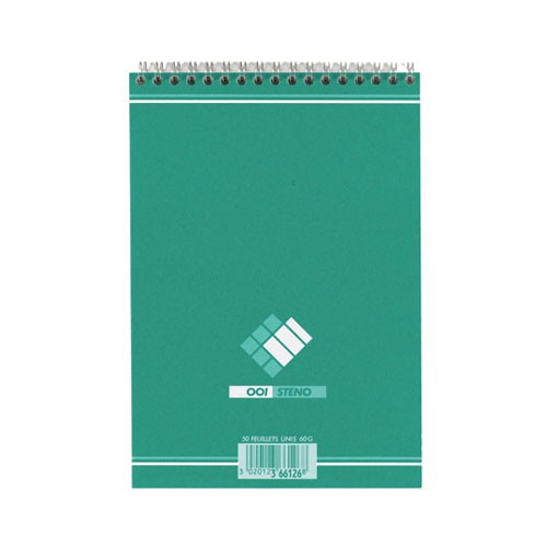 BLOC NOTES 14X21 50P STENO UNI 60G