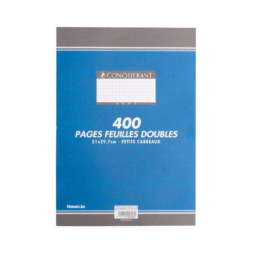 PAQUET 100 COPIES DOUBLES A4 Q5X5 BLANC