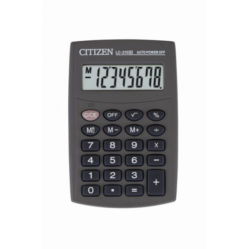 CALCULATRICE POCHE 8CH PILE CITIZEN